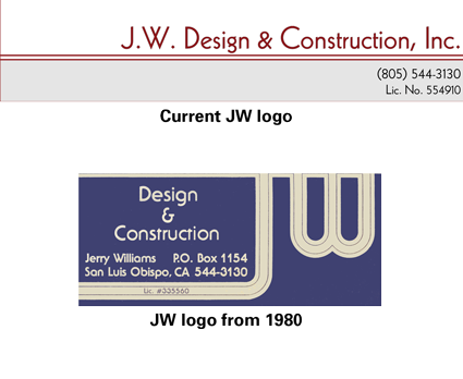 JW Design and Construction Logos