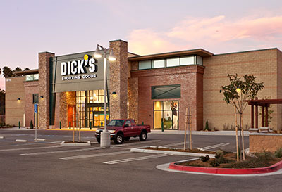 San Luis Obispo Dick's Sporting Goods Building Construction - JW Design & Construction
